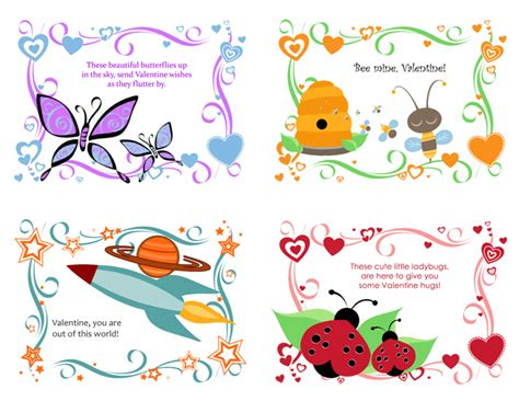 Gift Card For Kids - share the love ms office templates and printables for valentine s day cards