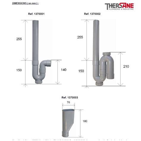 Syphon Evier Avec Evacuation Lave Vaisselle by Siphon Pvc Vertical Machine 224 Laver 216 40mm