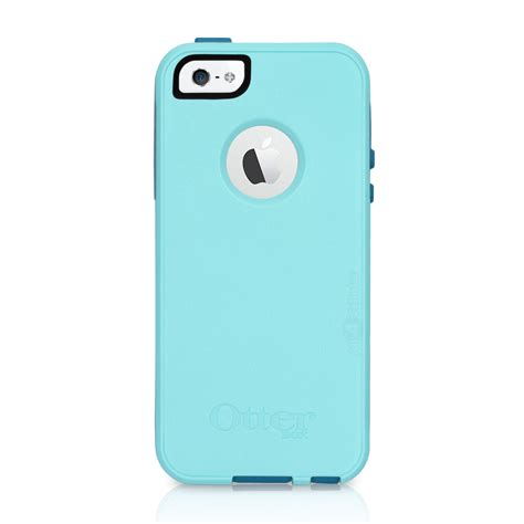 Iphone 5 Cyan Blue otterbox commuter iphone 5 5s aqua blue teal shell cover oem original ebay