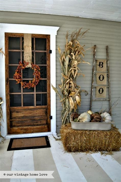 front porch fall decor fall front door decor ideas the garden glove