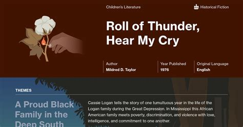 Pdf Roll Thunder Hear My Cry Read 5 And 6 by Roll Of Thunder Hear My Cry Documents Course