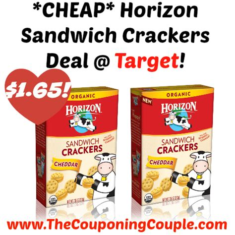 cheap horizon sandwich crackers deal target