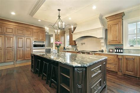 kitchen home design transitional medium tone wood floor kitchen 43 quot new and spacious quot light wood custom kitchen designs