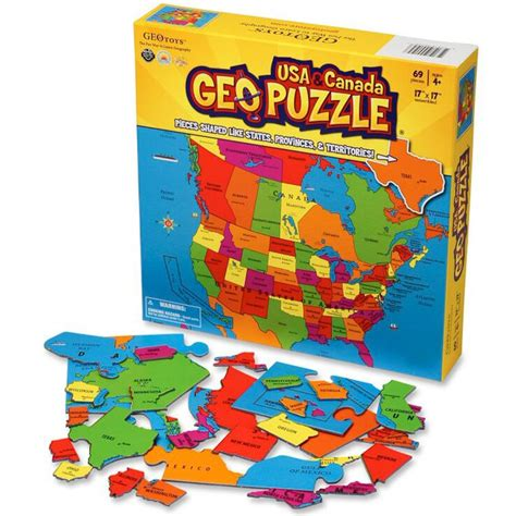 canadian hometown map puzzle geo puzzle usa canada 69 pc map puzzle educational