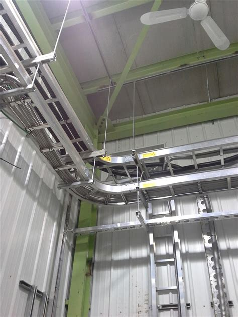 industrial cable tray installation electrical wiring