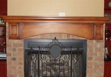painted mantel the fireplace was originally white