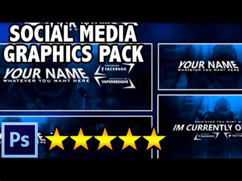 Featured Free Sick Social Media Graphics Pack Twitch Youtube Twitter Photoshop Template Free Social Media Graphic Templates