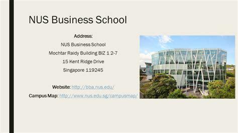 Nus Mba Deadlines 2017 by Sep International Students Nus Bizad Club