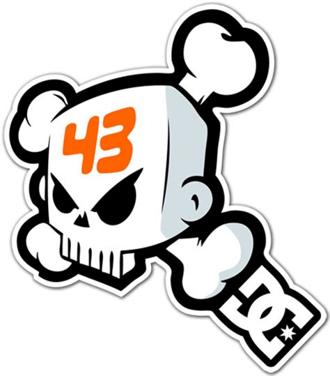 Dc Skater 43 sticker surf skate ken block 43 dc shoes skull 1