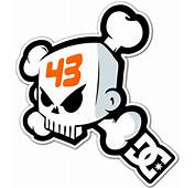 Sticker Surf Skate Ken Block 43 DC Shoes Skull 1