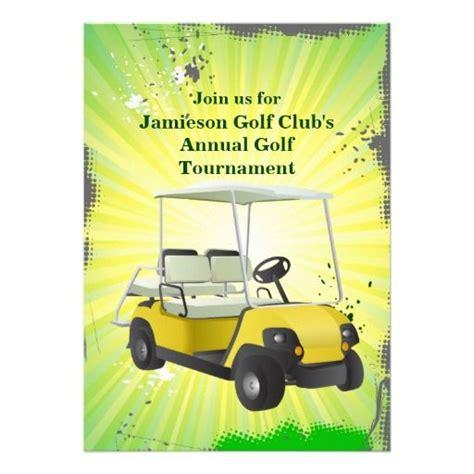 Golf Cart Tournament Cards Template by Golfer Golf Cart Golfing Tournament Invitation Golf