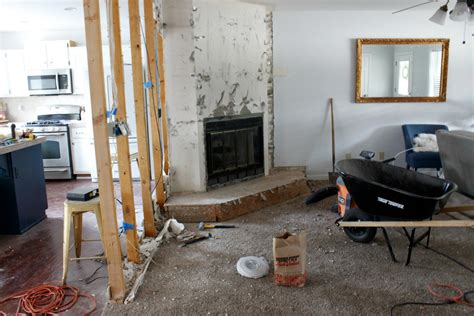 removing a wall between kitchen and living room fireplace in between kitchen and living room fireplaces