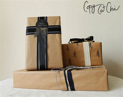copy cat chic christmas gift wrap on the cheap with lowe s