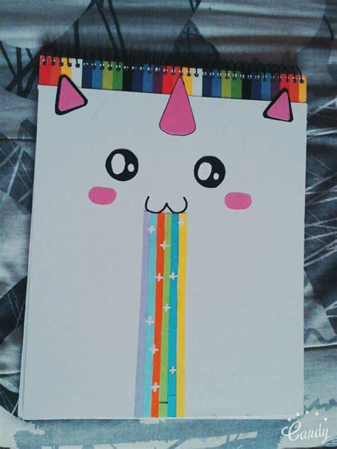 cuadernos decorados de unicornio con foami lindo cuaderno decorado de unicornio con cartulina