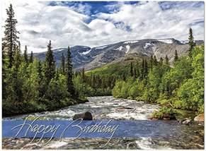 mountain stream birthday card scenic birthday cards