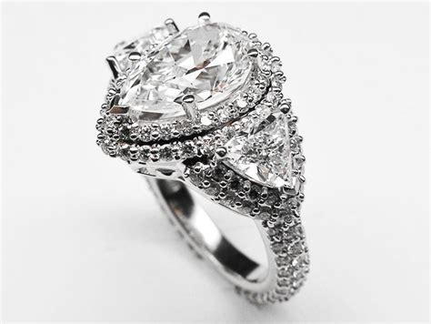 engagement ring pear shape vintage engagement