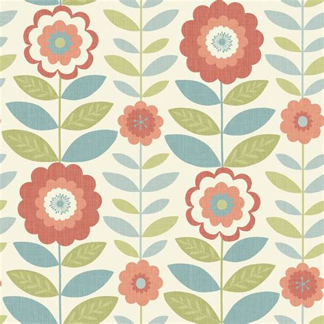 flower wallpaper kitchen arthouse wallpaper flower power coral and teal teal