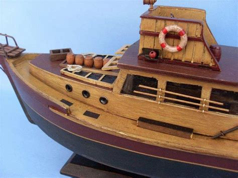 toy orca boat buy wooden jaws orca model boat 20 inch models ships