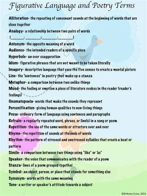 theme language definition spring themed figurative language and poetry practice