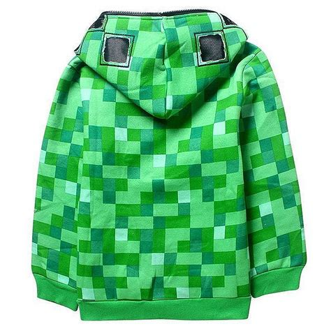 Vest Zipper Vest Rompi Minecraft Creeper boys creeper zip up coat sweatshirt green jacket hoodies ebay