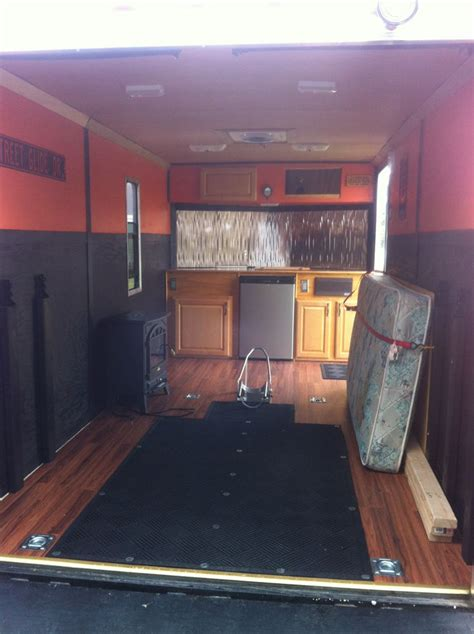 Camp Kitchen Designs by Enclosed Trailer Converted To Camper Autos Post