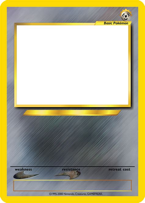 fire pokemon card blank template images pokemon images