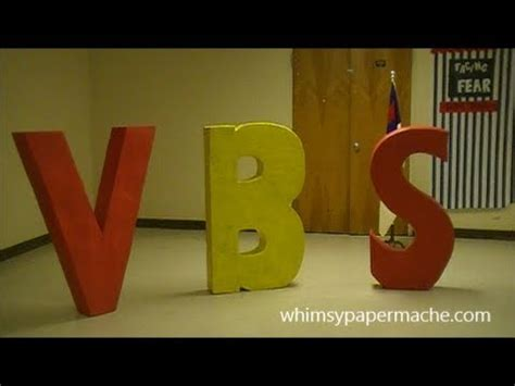 How To Make Large Paper Mache Letters - how to make paper mache vbs letters for your church