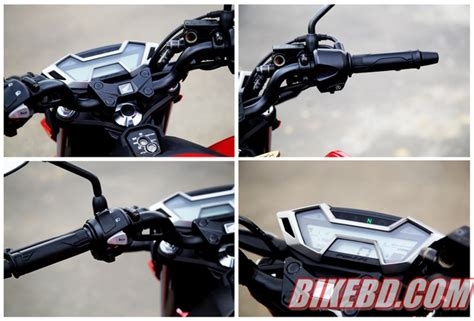 Speedometer New Cb150r Led Ori Ahm honda cb150r streetfire 12 000 km test ride review by team bikebd bikebd