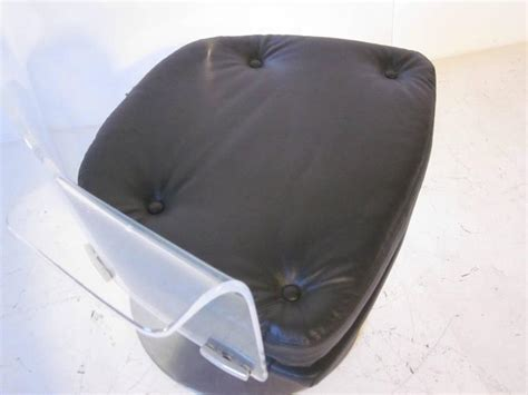 lucite swivel chair lucite upholstered swivel chair for sale at 1stdibs