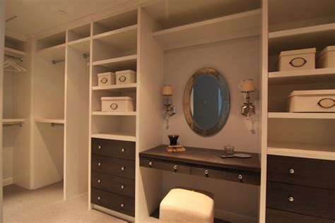 dressing closet built in dressing table closet traditional with