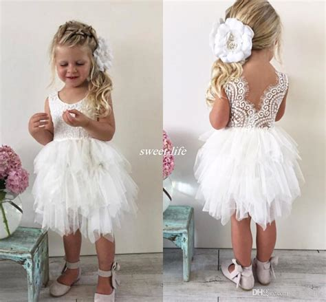 Flower Dresses For Wedding by Boho Wedding Flower Dresses For Toddler Infant