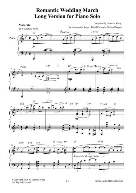 Wedding March Piano by Wedding March By Miranda Wong