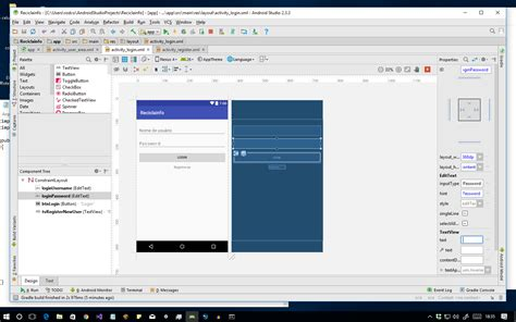 android studio missing layout edittext fields don t appear when running the android app