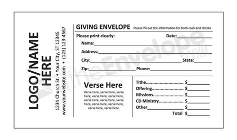 Remittance Envelopes Remittance Envelope Printing Church Envelope Template