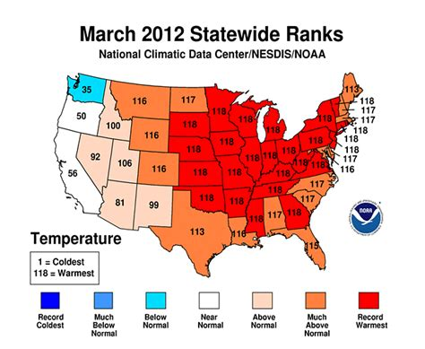 us weather map in march summary information state of the climate national