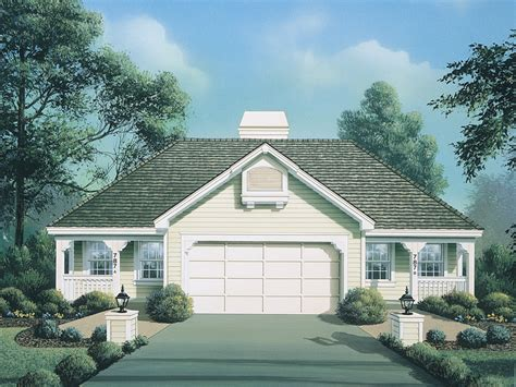 cottages with breezeway cottage grove duplex home plan 007d 0095 house plans and