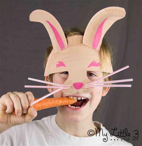 How To Make A Paper Plate Mask - make a paper plate easter bunny mask craft room