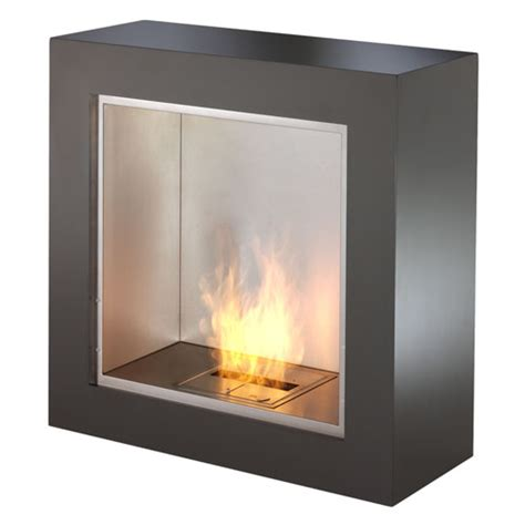 contemporary ventless fireplace ecosmart cube modern ventless designer fireplace