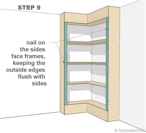 diy build a corner shelf plans free