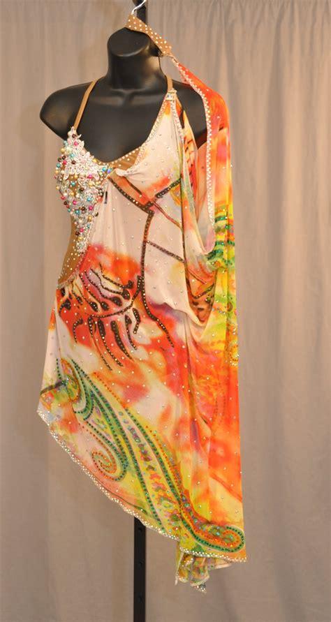 pattern latin dress sexy drapy pattern latin dress