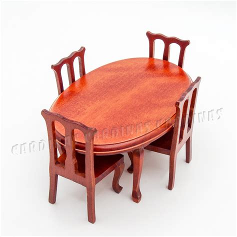 kitchen furniture accessories aliexpress com buy 1 12 miniature winered dining table