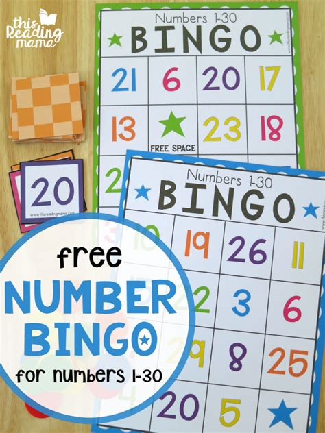 printable number bingo 1 30 free number bingo for numbers 1 30 this reading mama