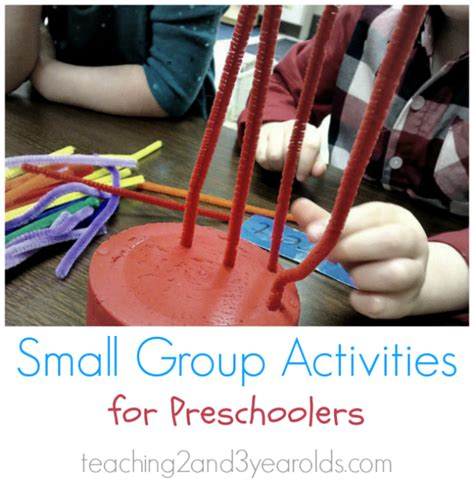 activities for how to small groups with preschoolers