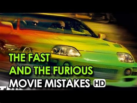 fast and furious mistakes the fast and the furious movie mistakes 1 2001 hd