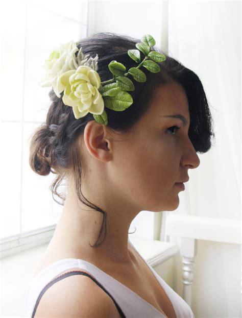 wedding hair accessories ivory flower ivory bridal flower hair comb handmade flowers oriflowers
