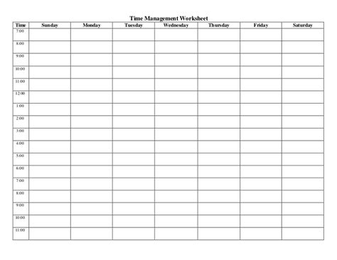 printable time study sheets time management worksheets