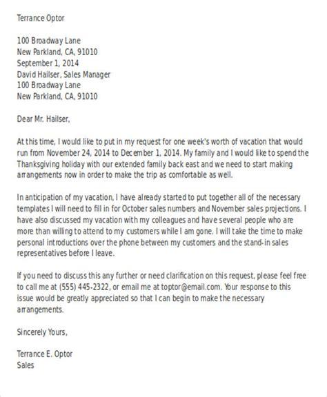 vacation letter templates premium