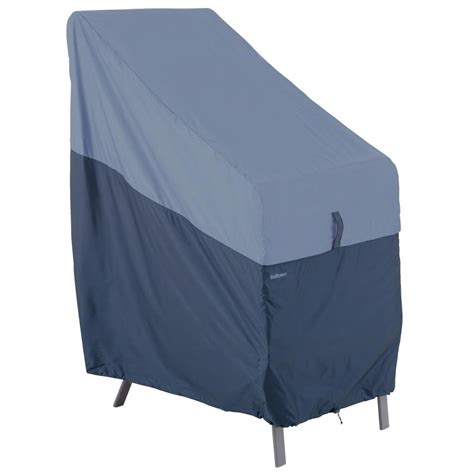 Patio Chair Cover Classic Accessories Belltown Outdoor Stackable Patio Chair Cover Weather And