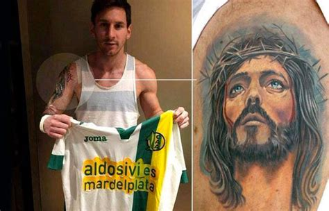 messi tattoo arm jesus 61 lord jesus shoulder tattoos