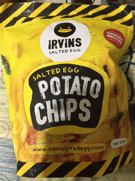 Irvins Salted Egg Snack irvins salted egg potato chips review